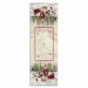 Runner natalizio 47x140cm decorazioni Centrotavola Natale Maestri Cotonieri 4519