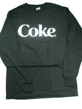 Coca-Cola Black Long Sleeve Tee T-shirt White Letters Coke Small - BRAND NEW