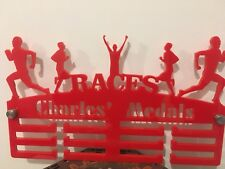 Running Male Medal Hanger Holder Display PERSONALISED 3Tier 5mmAcrylic COLOURS