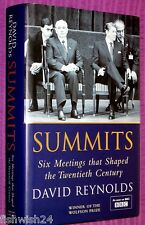 SUMMITS: 6 MEETINGS THAT SHAPED THE 20th CENTURY David Reynolds HB near new 1st