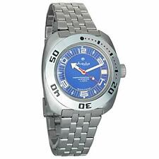 Vostok Amphibia 710406 Watch Russian Military Auto  Scuba Divers Blue