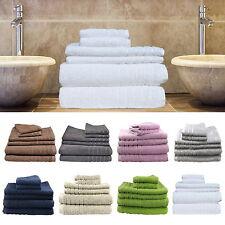 6 Pieces Bath Towels Set Egyptian Cotton 620gsm Spa Quality Multi-colours