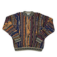 Coogi Australia Biggie Sweater Rare Vintage Authentic Multicolor 90s Medium
