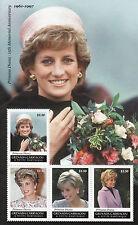 Grenada Grenadines 2012 MNH Princess Diana Memorial 15th Anniv 4v M/S Stamps