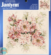 Cross Stitch Kit ~ Janlynn Beautiful Bouquet of Pink Garden Roses #106-0057