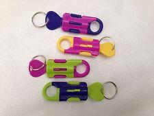 1x Multi Colour Pop Up Hipster Key Ring Belt Loop Clip On Keyring
