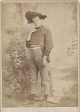 CABINET CARD OF YOUNG MAN IN UNIQUE COSTUME -TOMLINSON STUDIOS DETROIT, MICHIGAN