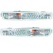 1996-1997 Honda Accord Front Bumper Light Pair Crystal Clear