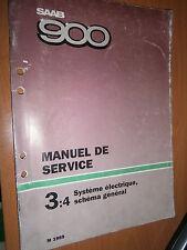 Saab 900 : manuel atelier partie 3:4 Système électrique schémas 1989