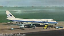Large Postcard Aircraft/Aviation KLM Boeing 747B