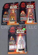Star Wars Ep1 Ric Olie Naboo Royal Security & C-3PO CommTech Figures Hasbro NIP