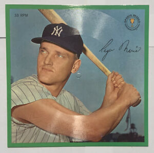 Roger Maris 1962 Auravision Sports Champions Record 33 1/3 RPM Yankees Unpunched