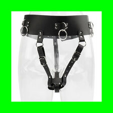 Kinky Sexy Female Chastity Orgasm Belt made of PU Leather - Roleplay Dress Up