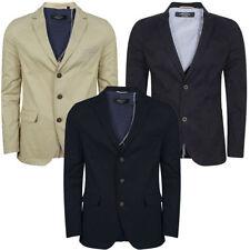 Cotton Blend Button Blazers for Men