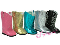 """18 Inch Doll Boots - Western Boot - Shoes for American Girl Dolls - 18"""" Cowgirl"""