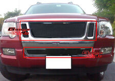 Fits 2007-2010 Ford Explorer Sport Trac Black Mesh Grille Grill Combo Insert