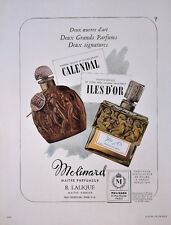 1950 - CALENDAL and ILES D'OR Perfumes by MOLINARD - French Ad