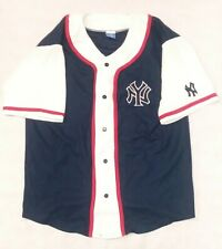 Rare Vintage Champion New York Yankees MLB Button Up Baseball Jersey Sz XL