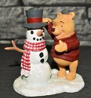 Extrem Seltene Vintage Walt Disney Figur Winnie Puuh der Bär mit Schneemann Alt