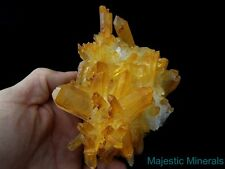 HIGH END BURR DISPLAY____HUGE OPTICAL CLEAR Arkansas Quartz Crystal Cluster