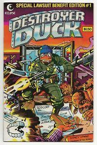 Destroyer Duck #1 (1982, Eclipse) Gerber Kirby Adams Aragones  1st Groo  VF(-)