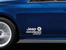 2 x Performance Aufkleber passt Jeep Wrangler Grand Cherokee Patriot Emblem Logo
