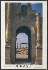 Jordanien Jordan used Post Card Postkarte Temple ruins Jarash [cm537]