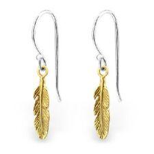 NEW! Sterling Silver Feather Drop Earrings