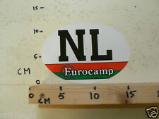 STICKER,DECAL NL COUNTRY EUROCAMP