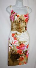 NWT SUZI CHIN Maggie Boutique Floral Ruched Empire Waist Dress Size 4