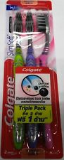 3 Pcs. Colgate Slim Soft Charcoal-Infused Black bristles Ultra Soft Toothbrush