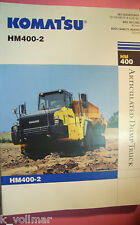 ✪altes original Prospekt/Sale Brochure Komatsu Articulated Dump Truck HM400-2