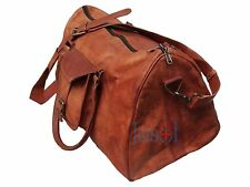Handmade Genuine Leather Large Triangle Duffel Travel Weekend Overnight Bag