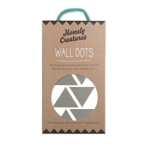 NEW Homely Creatures Decal Wall Triangles - Grey Children Baby