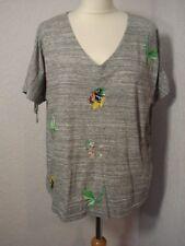 Per Una grey marl embroidered parrot/bird/floral/tropical top 16