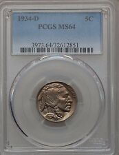 1934-D 5C MS64 PCGS Mintage: 7,480,000 (1147)