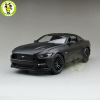 1/18 2015 Ford Mustang GT 5.0 diecast car model for gifts Matte Black maisto