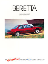 1989 Chevrolet Beretta GT and GTU Original Car Sales Brochure Catalog