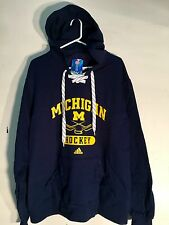 REEBOK Pullover Hoodie NCAA Jersey Michigan Wolverines Team Navy sz L