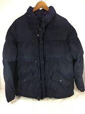 Men's Tommy Hilfiger Down Winter Puffer Coat Navy Blue Sz M