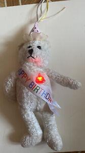 """Singing Happy Birthday Teddy Bear PBC Lights 11"""" 2012 plush EUC"""