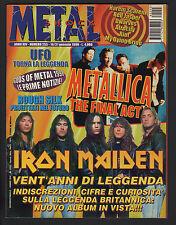 METAL SHOCK 255/1998 IRON MAIDEN METALLICA ROUGH SILK UFO ICONAE DWARVES JESPER