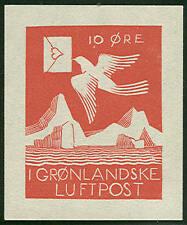 GREENLAND 1931, ROCKWELL KENT semi-official airmail reprint, 250 made, w/cert