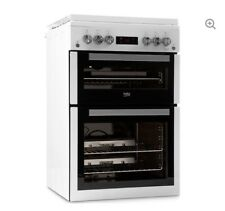 BEKO XDVG675NTW 60cm Gas Cooker White DOUBLE OVEN LPG CONVERTIBLE LID TIMER