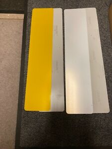 Pack of 100 x Number Plate ACRYLIC BLANKS + Reflectives (50 white, 50 yellow)
