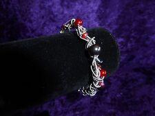 Red & Black Beaded Guitar String Bracelet