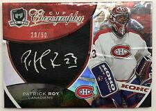 2008-09 UD THE CUP CHIROGRAPHY SILVER INK AUTOGRAPH AUTO PATRICK ROY #20/50