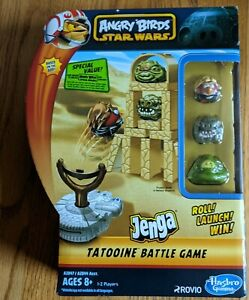 Angry Birds Star Wars Jenga Tatooine Battle Game Hasbro NEW Unused code inside