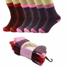 3 Pairs Women Thermal Winter Warm Soft BED Boots Wool Crew Socks Size (9-11)Warm
