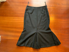 Vintage Givenchy Black High Waist Midi Couture Skirt Pleated Size 36 Cashmere